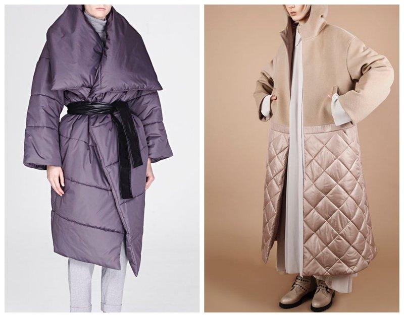 Вариации стеганых пальто