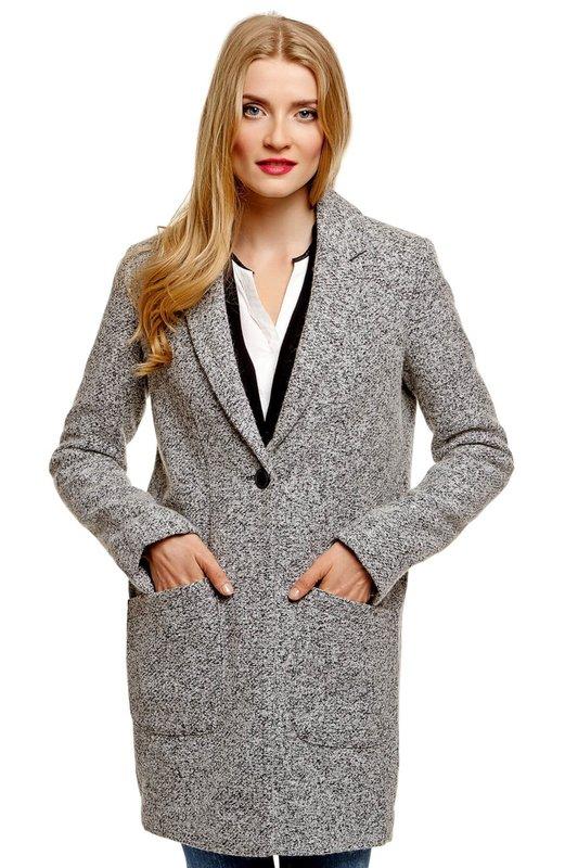 Серое пальто-пиджак