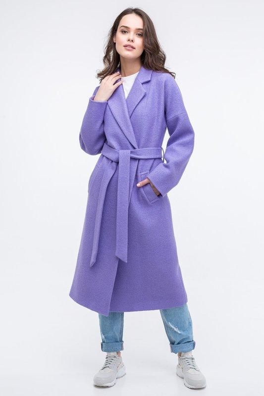 Сиреневое пальто-халат