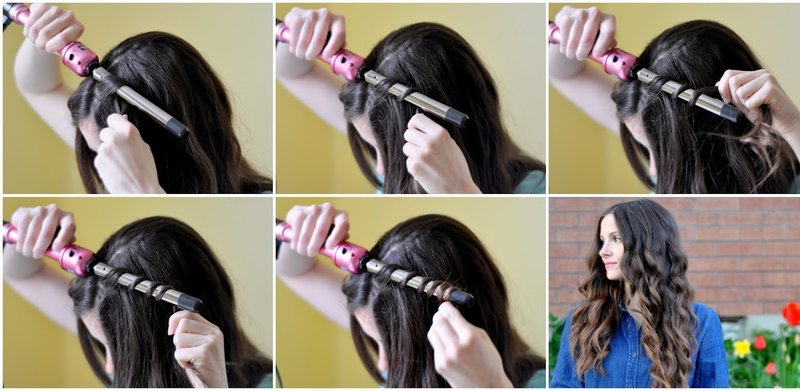 Укладка волос в роскошные локоны: поэтапно