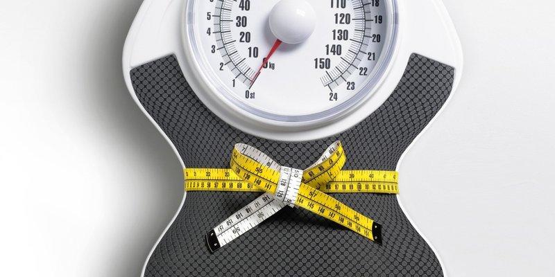 Результата похудения на весах