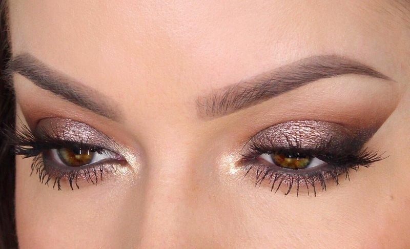 """Вечерний макияж глаз """"Крыло птицы"""""""