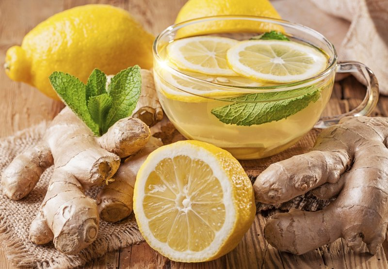 Чай с лимоном и имбирём для похудения