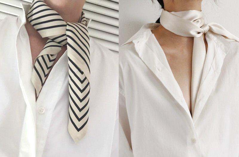 Элегантный образ с шарфом на шее