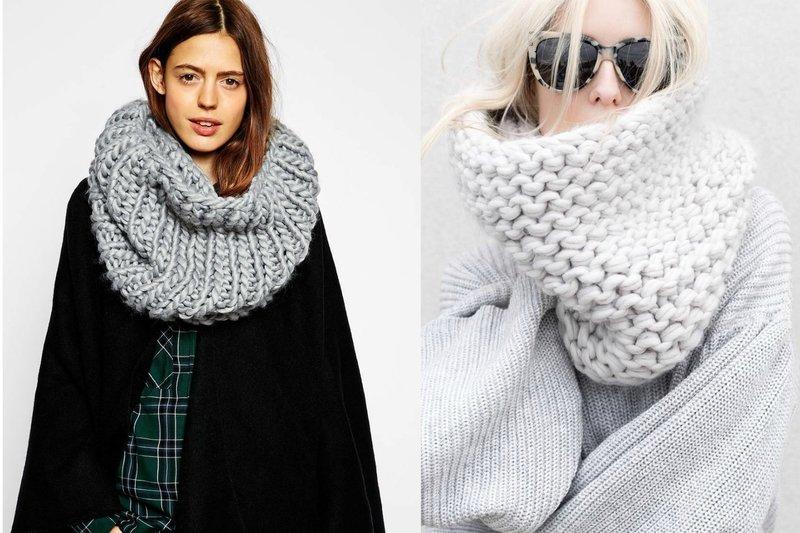Женский шарф снуд крупной вязки