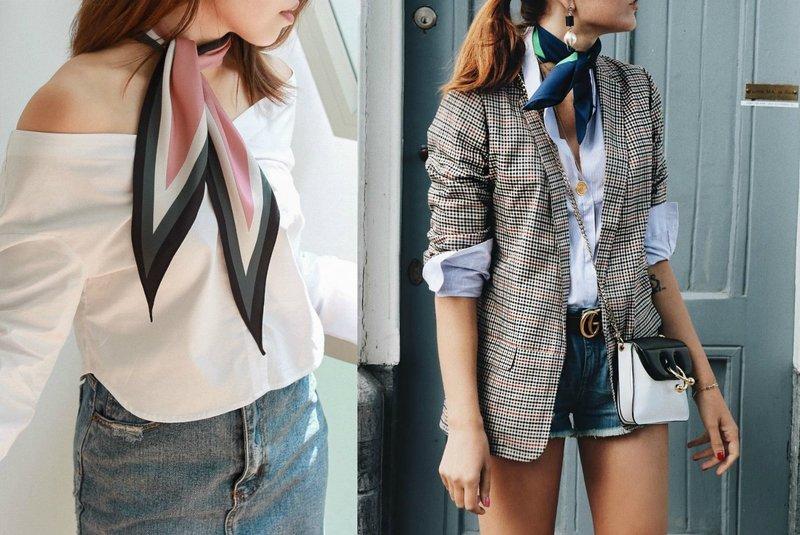 Деловой look с шелковым шарфом