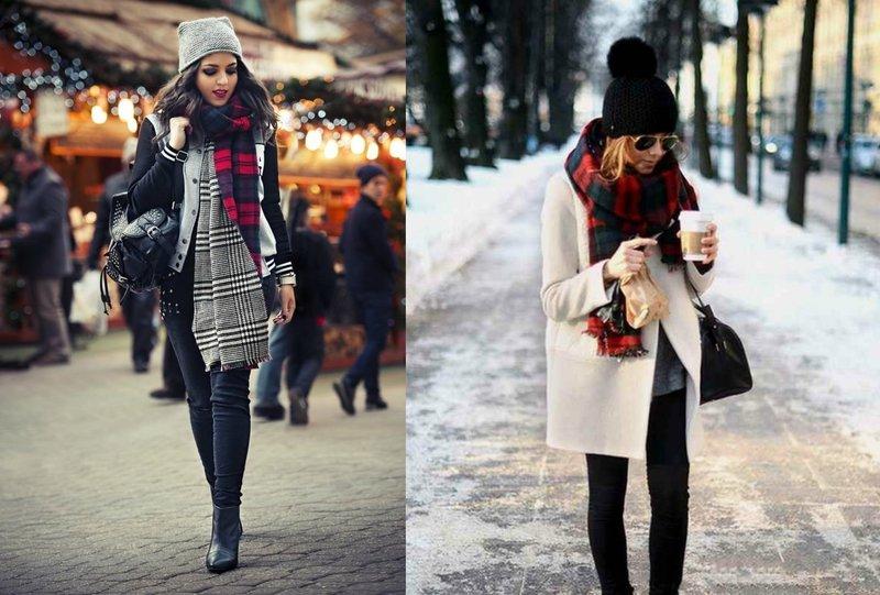 Женский шарф в скандинавском стиле