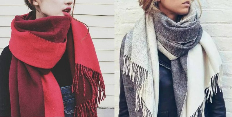 Новинки женских шарфов: модная бахрома