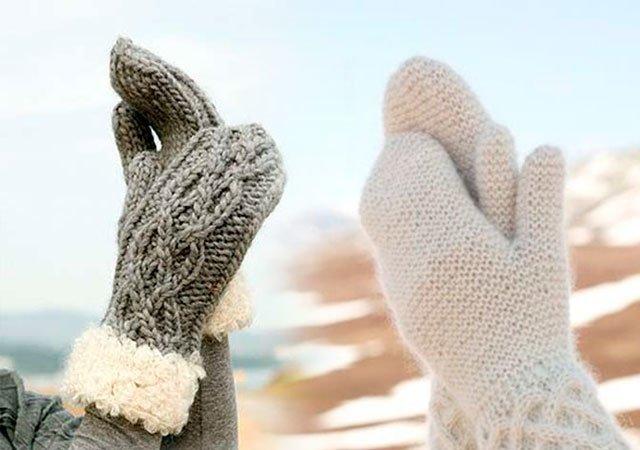 Объемные варежки своими руками