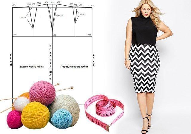 961921c117f6 1 Какие фасоны юбок идеально подходят для полных женщин (фото) ...