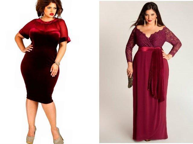 Платья для полных из бархата фасоны фото