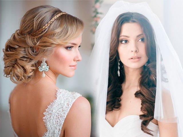 фото прически свадебные на длинные волосы
