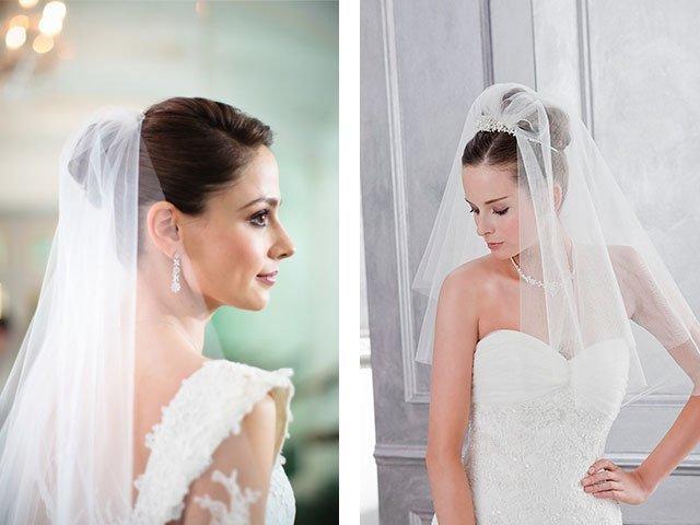 Свадебные прически с фатой: фото, новинки 2018