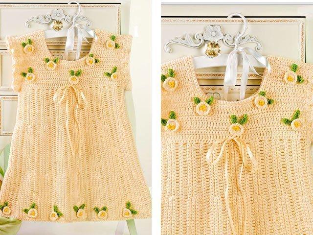 вязание крючком со схемами платья детям