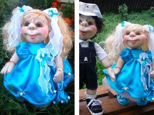 Куклы из капрона своими руками пошаговое фото 42