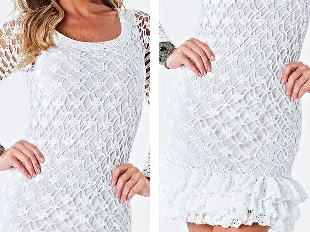 Вязаные летние платья со схемами или описанием 303
