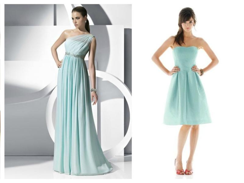 Мятный цвет платьев