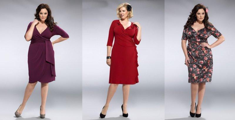 Варианты нарядов для полных девушек