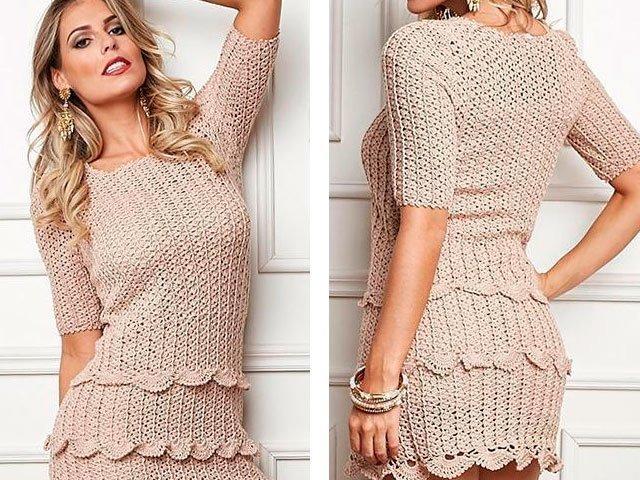 9099e78ea42 Вязаные платья для женщин крючком со схемами и описанием