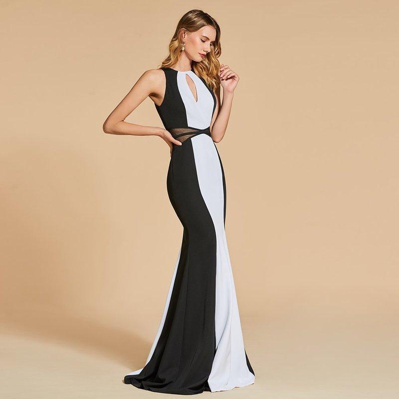 Черно-белое платье на свадьбу