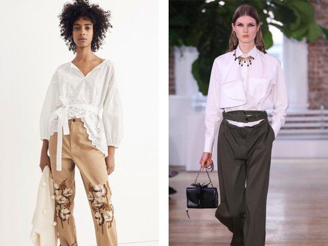 Модные женские рубашки 2018: фото