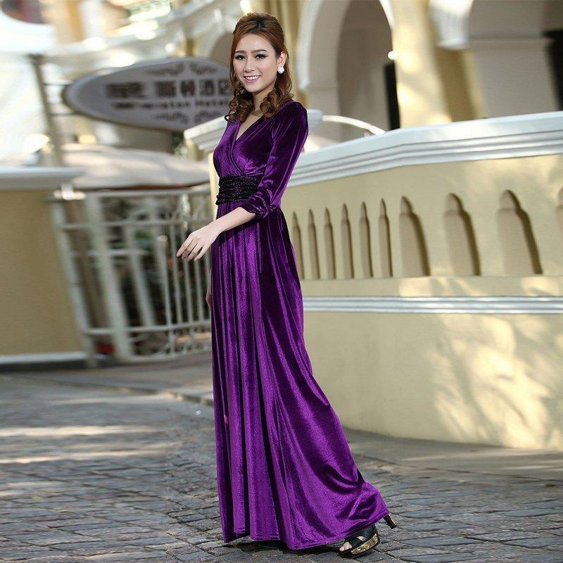 Свадебный наряд из бархата