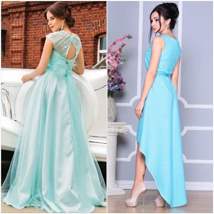 Модели платьев бирюзового цвета