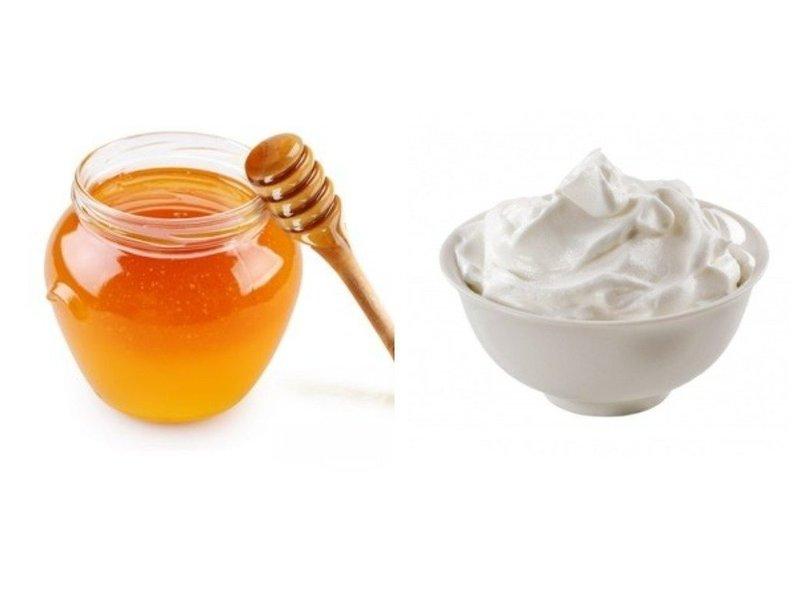 Мед и сметана