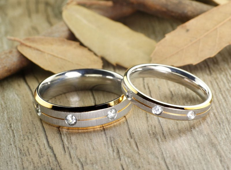 Обручальные кольца: сочетание разных металлов