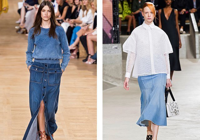bba36d7f207 Джинсовые юбки в 2018 с чем носить