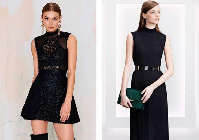 Черные платья без рукавов