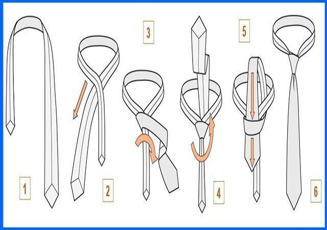 инструкция как завязать галстук в картинках