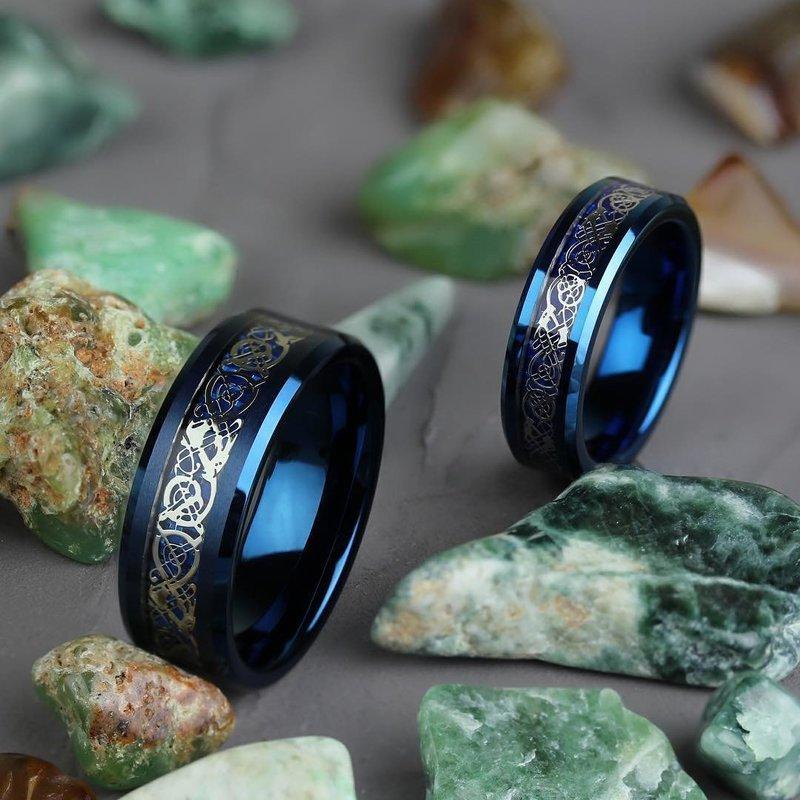 Свадебные кольца из черного золота