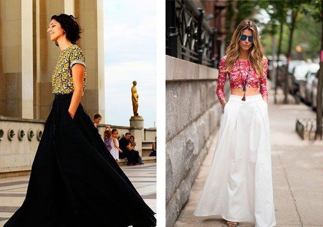 2807e203328 Длинные юбки 2018 года  модные тенденции