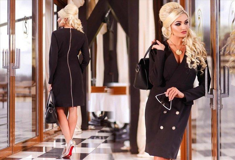 Элегантное платье-жакет