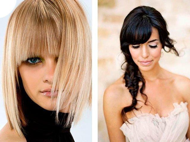 Сексуальная причска для средних волос и круглого лица