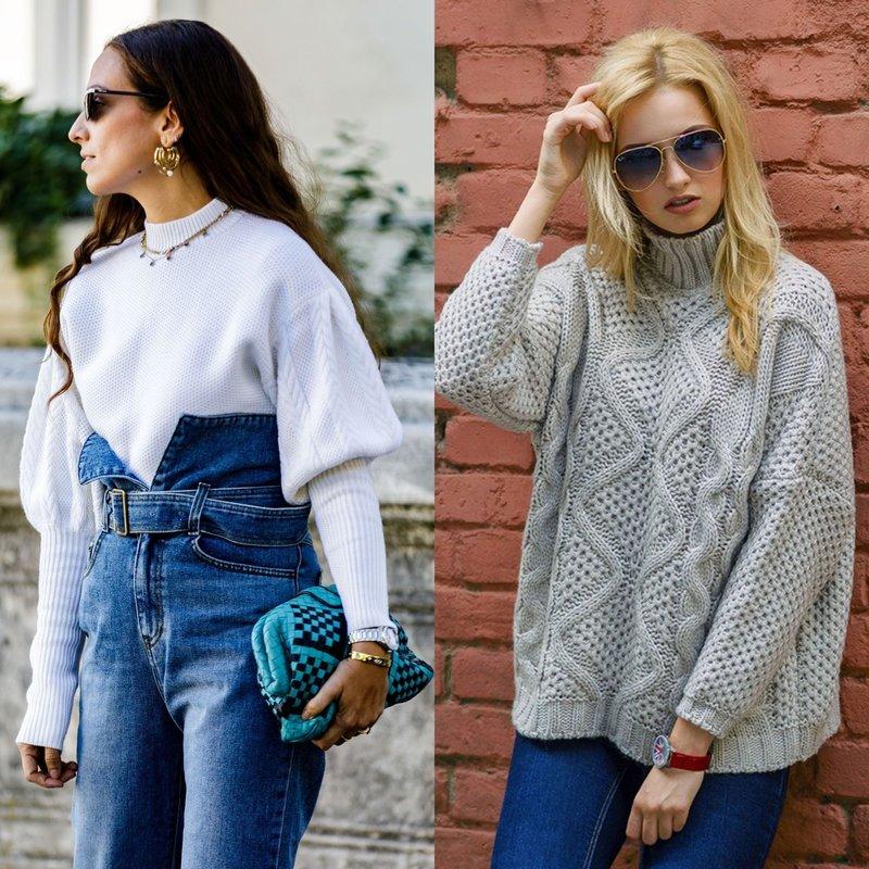 Модные свитера оверсайз на весну
