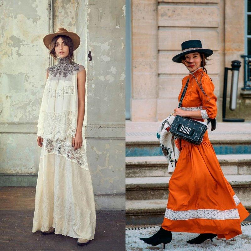 Длинные платья в стиле бохо
