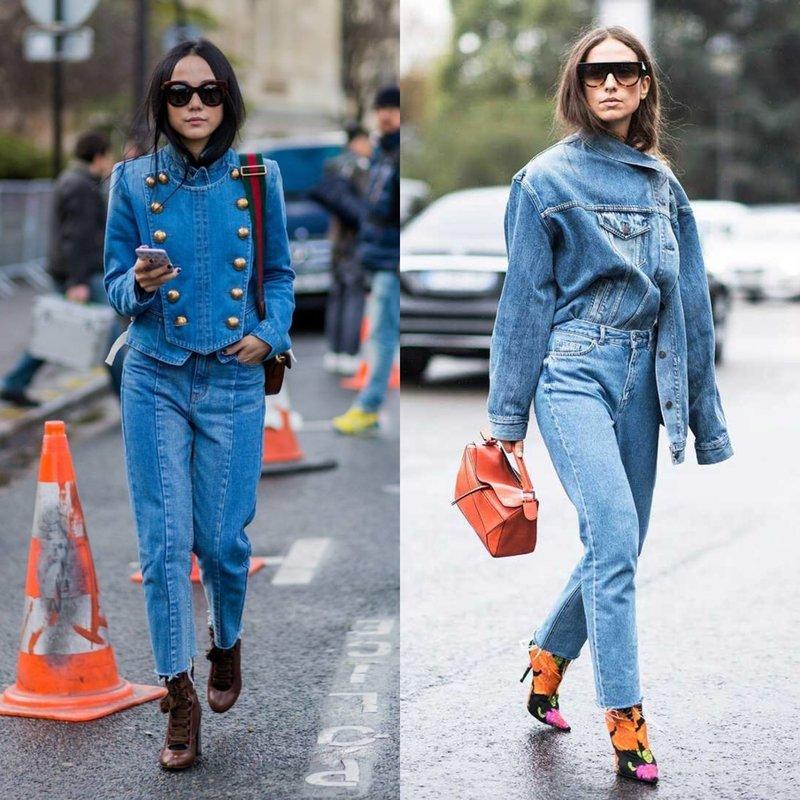 Модные образы в джинсовой одежде