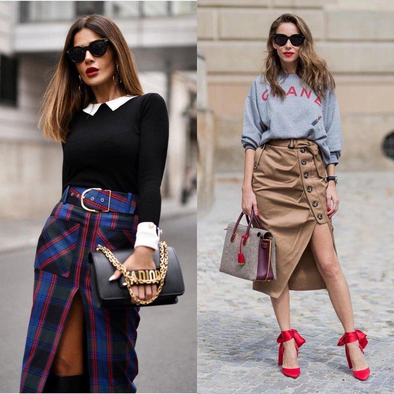Асимметричные элегантные юбки