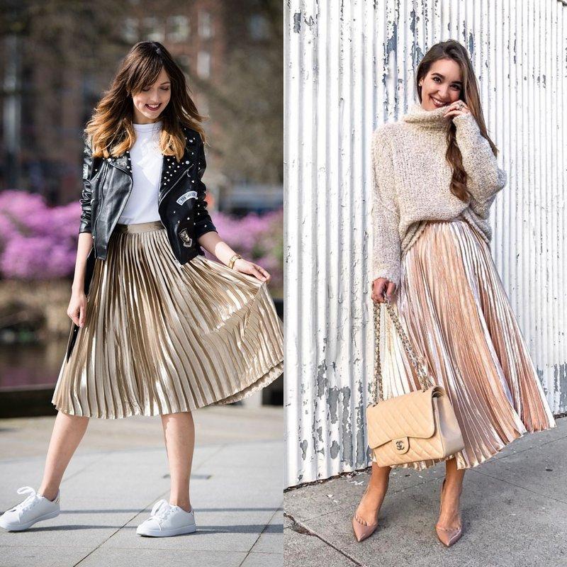 Блестящие юбки: тренд весна-лето