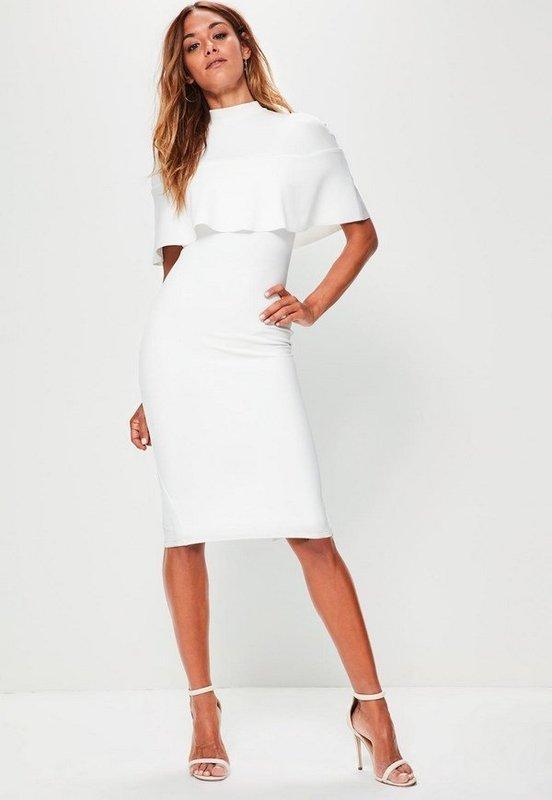 Деловое белое платье