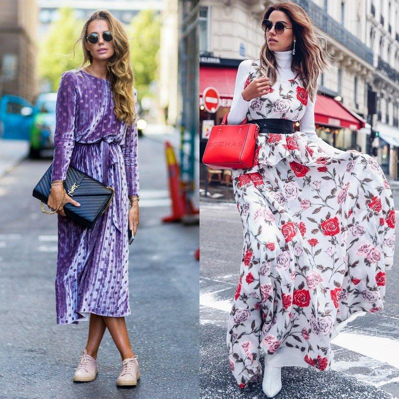 Длинные платья весна-лето: новинки 2019