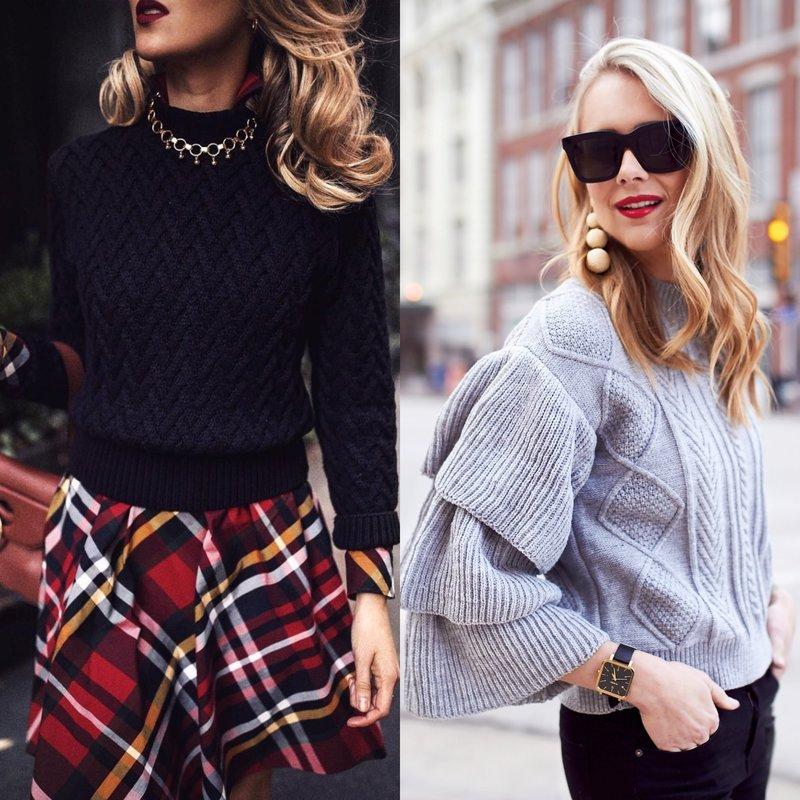 Элегантные модели свитеров на весну
