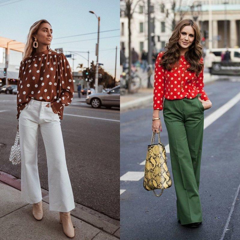 Стильные весенние образы в топовых блузках