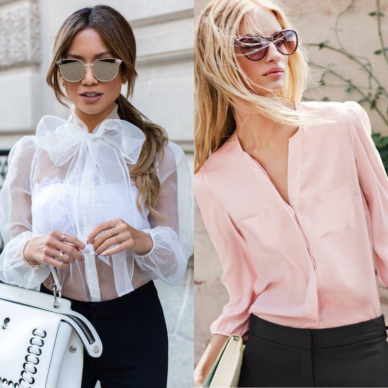 Блузки пастельных тонов