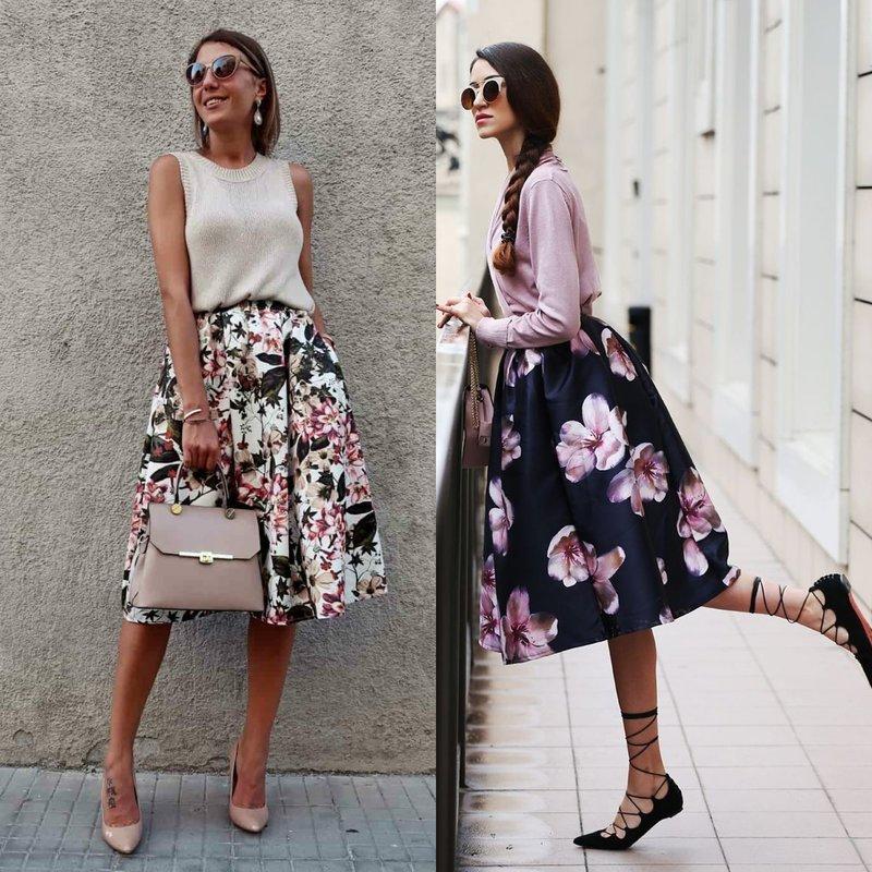 Цветочные весенние юбки