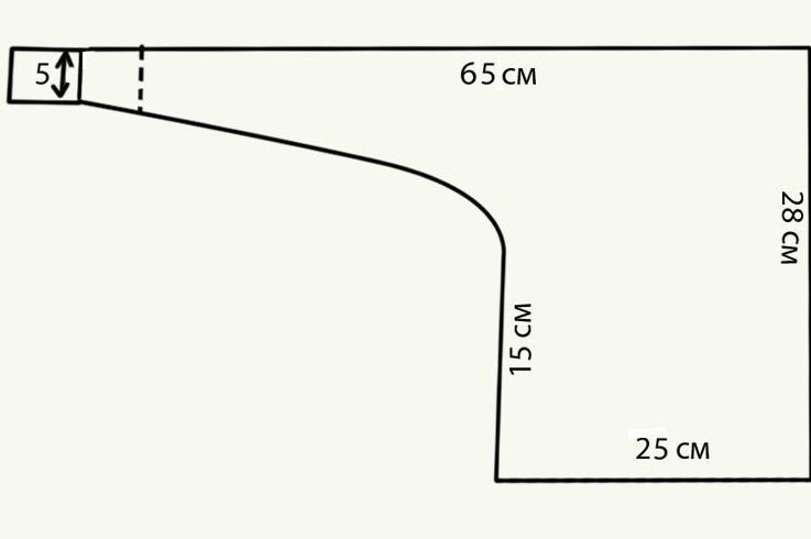 Схема французской косынки