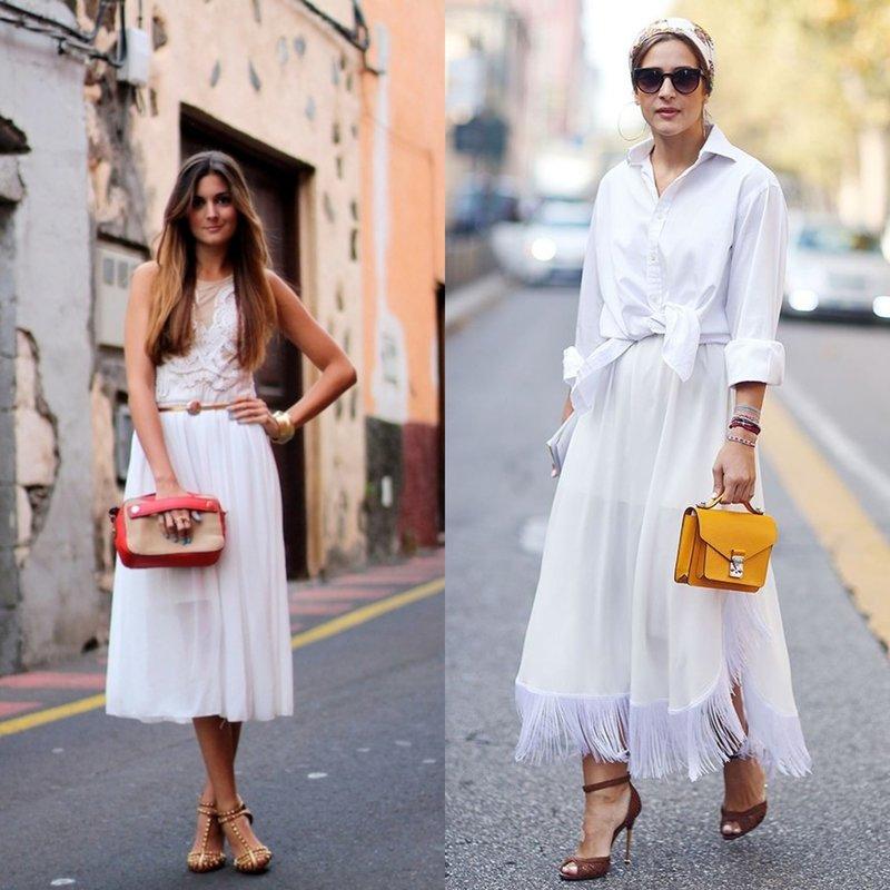 Женственный look в белом