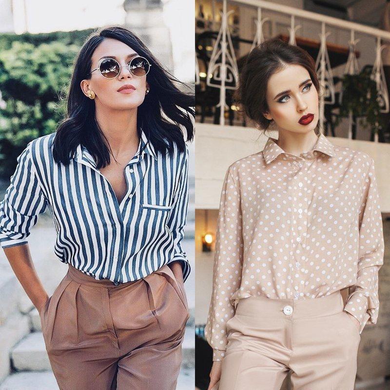 Стильные женские рубашки: модные образы